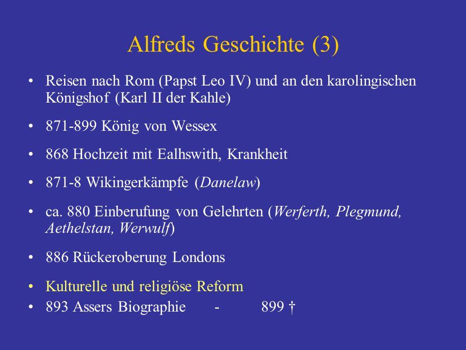Alfreds Geschichte (3) Reisen nach Rom (Papst Leo IV) und an den karolingischen Königshof (Karl II der Kahle)