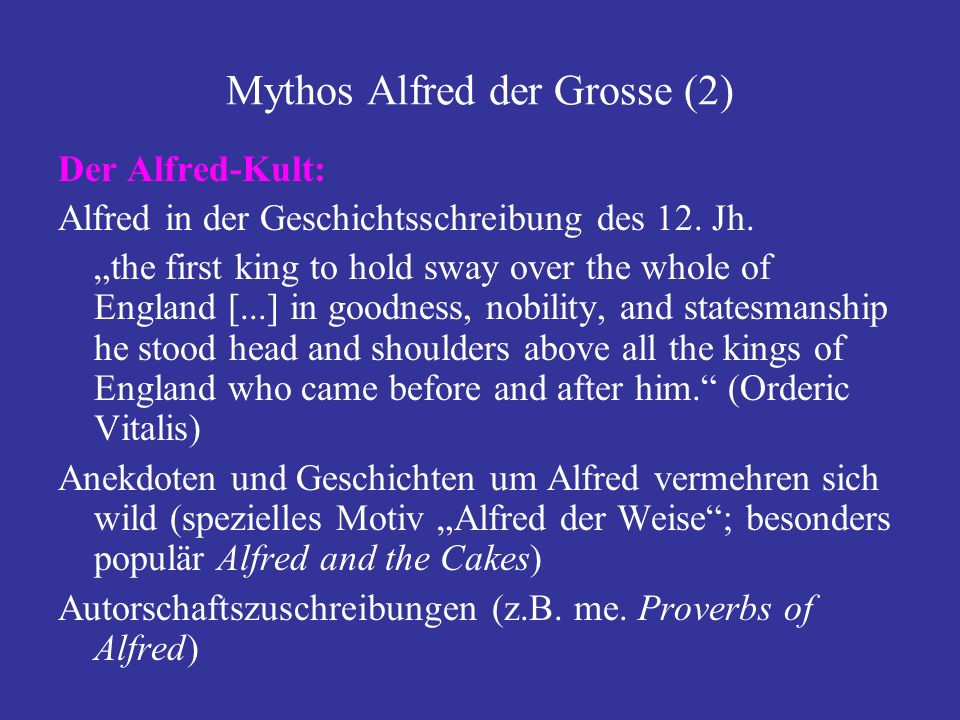 Mythos Alfred der Grosse (2)