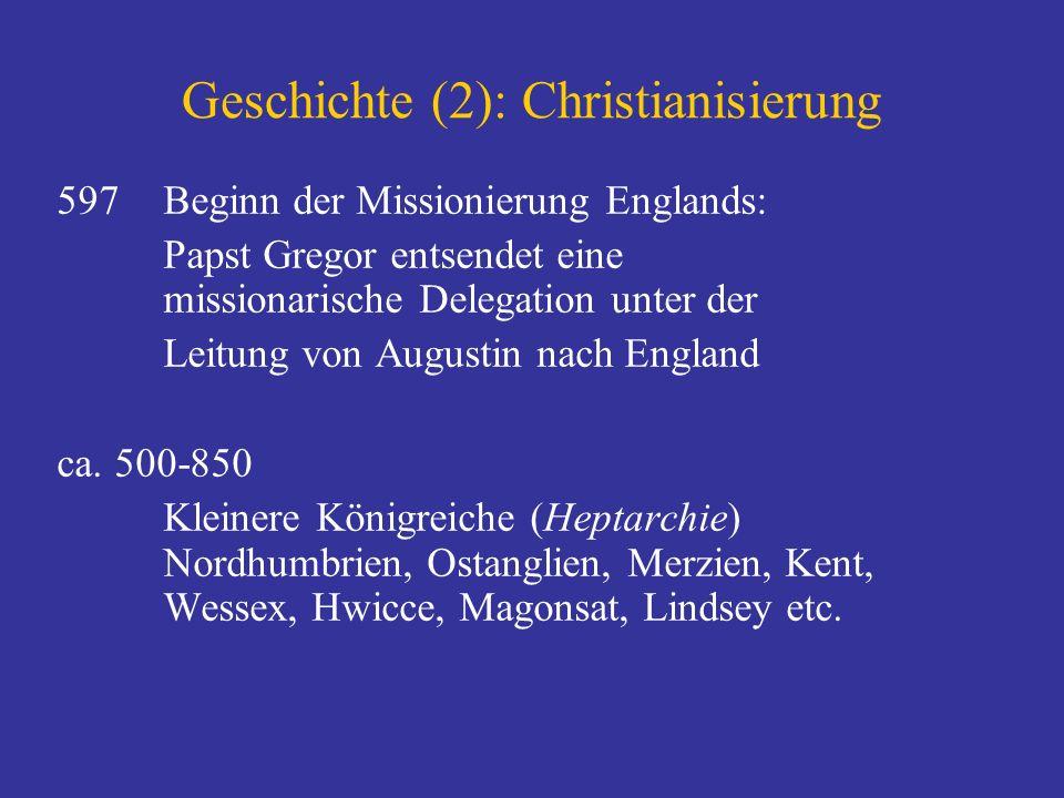 Geschichte (2): Christianisierung