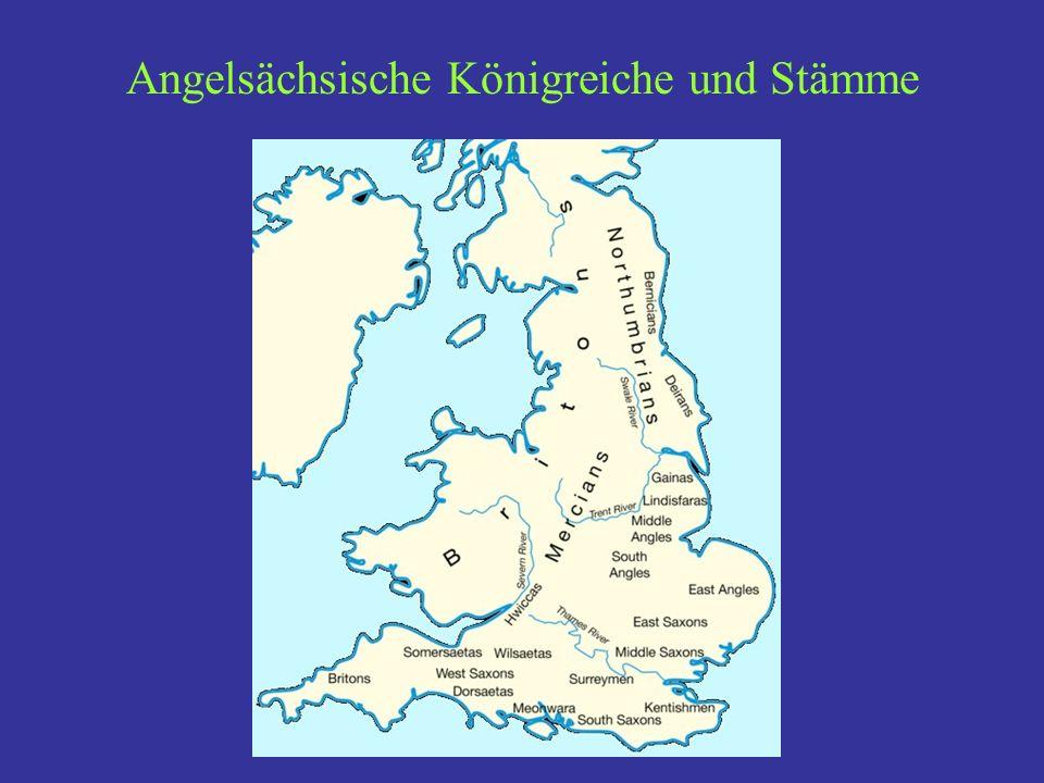 Angelsächsische Königreiche und Stämme