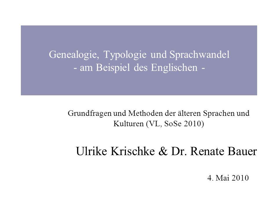 Genealogie, Typologie und Sprachwandel - am Beispiel des Englischen -