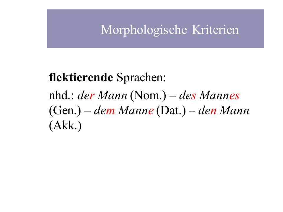 Morphologische Kriterien
