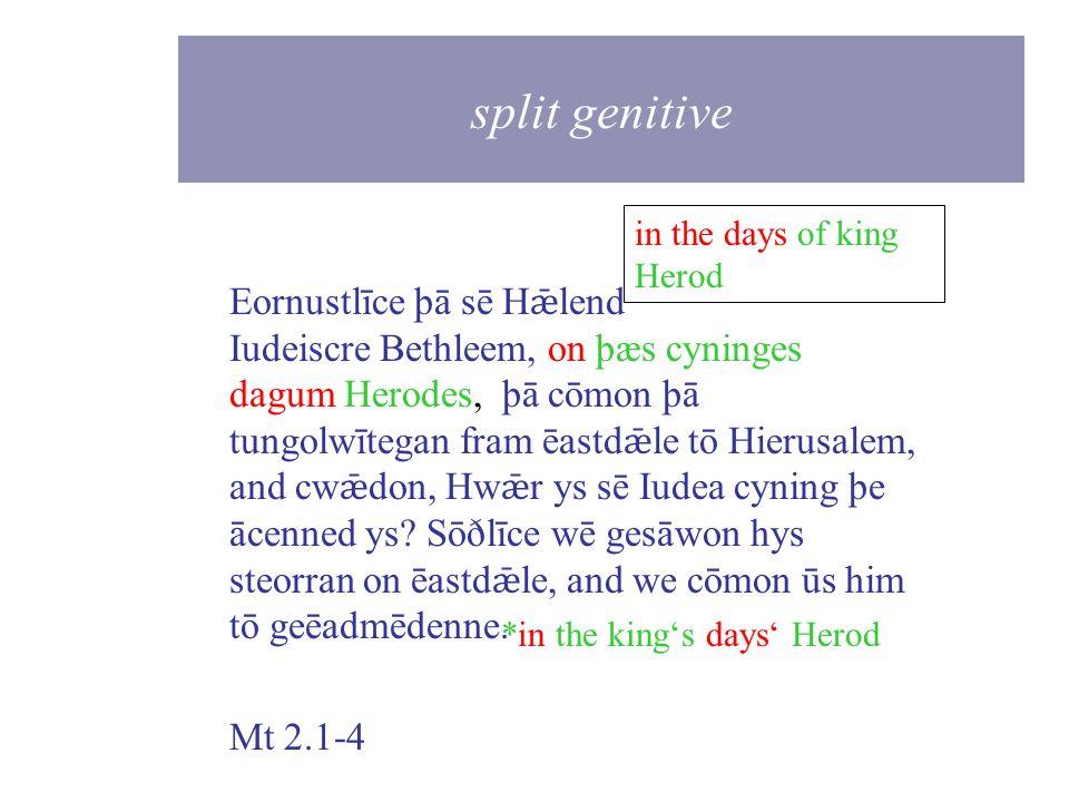 split genitive