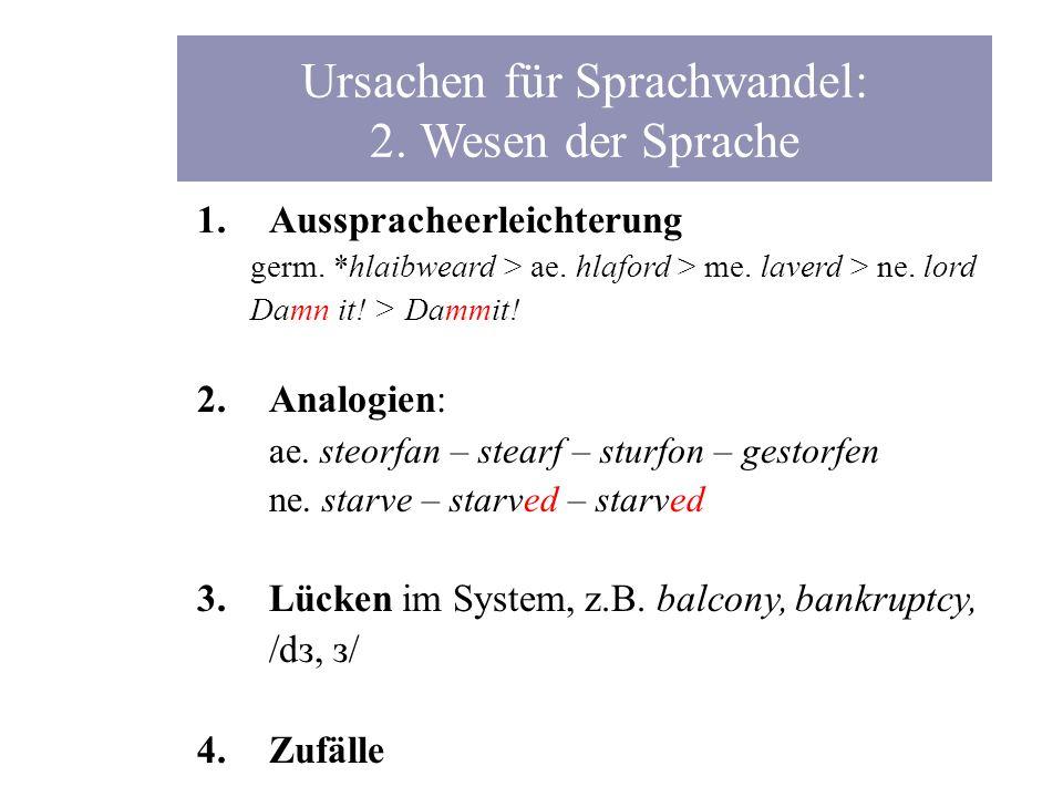 Ursachen für Sprachwandel: 2. Wesen der Sprache
