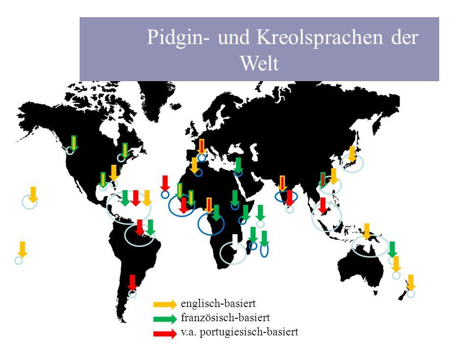 Pidgin- und Kreolsprachen der Welt