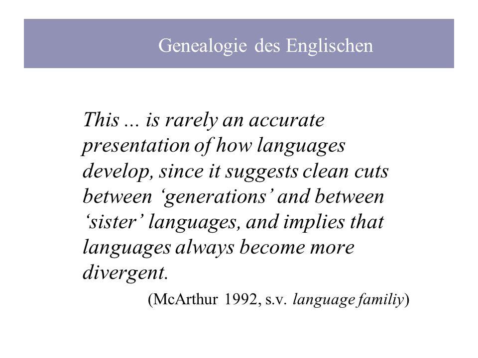 Genealogie des Englischen