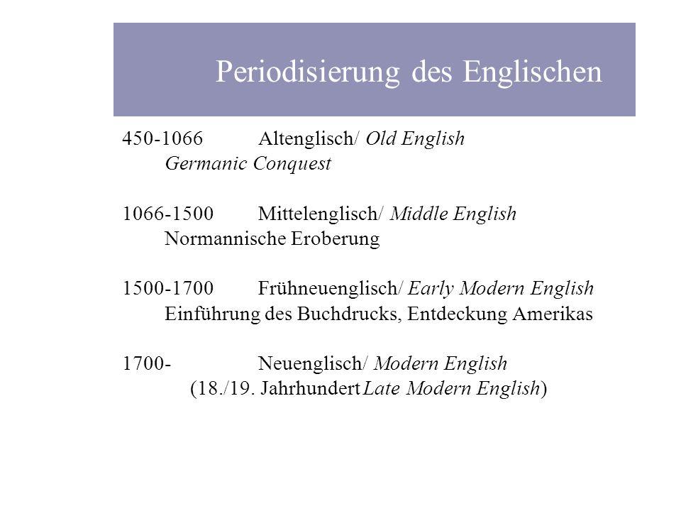 Periodisierung des Englischen