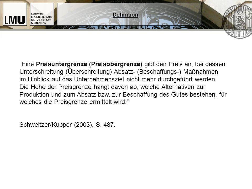 Schweitzer/Küpper (2003), S. 487.