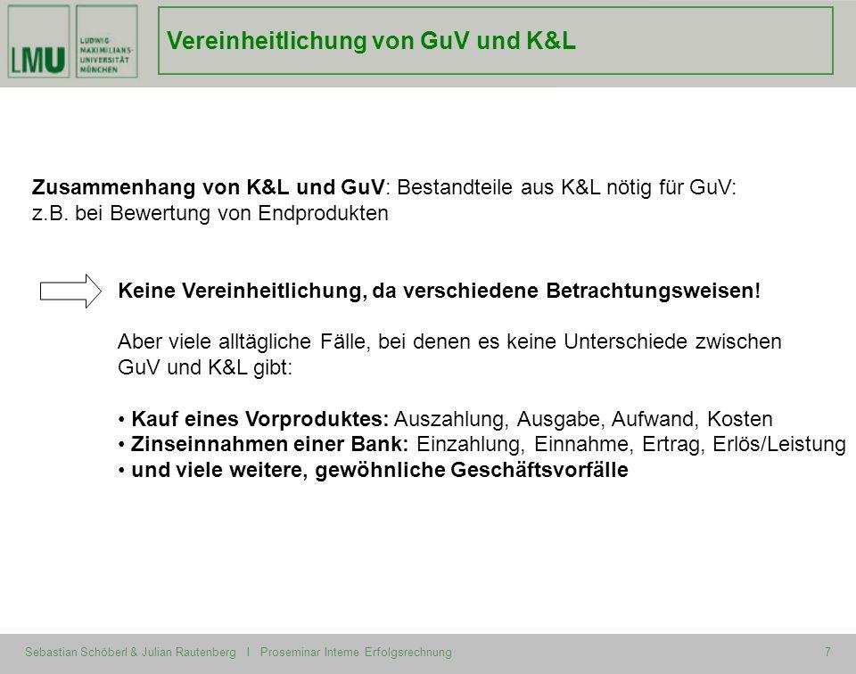 Vereinheitlichung von GuV und K&L