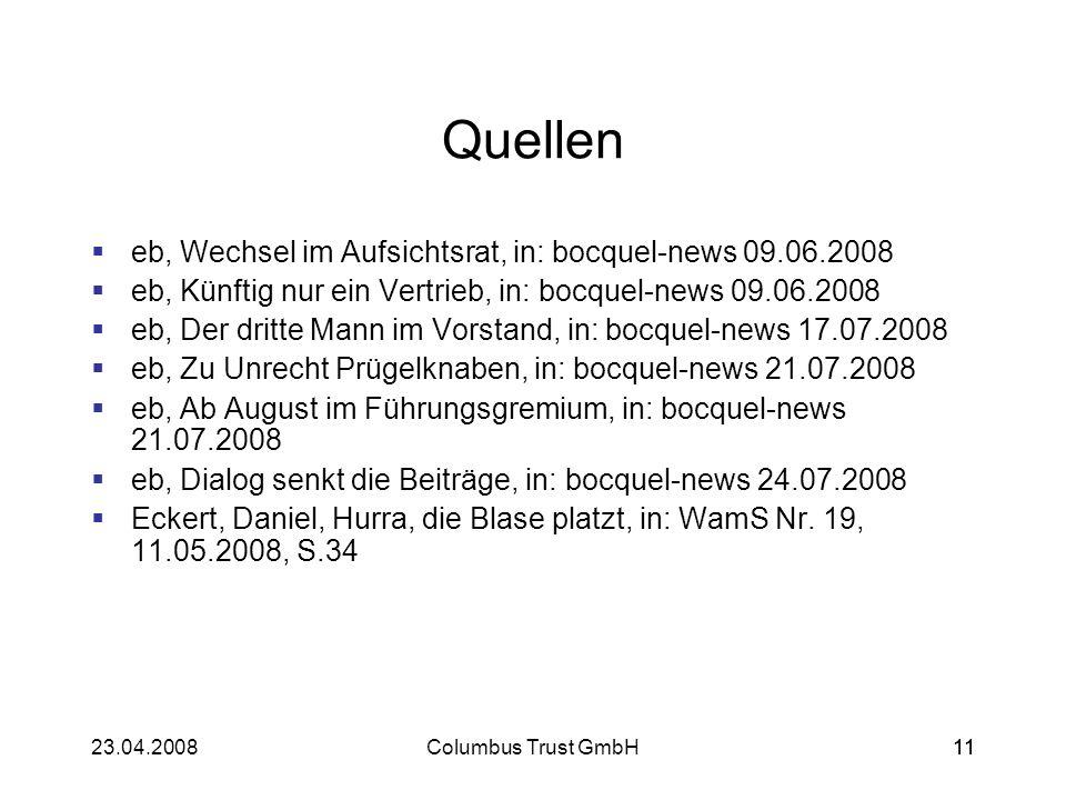 Quellen eb, Wechsel im Aufsichtsrat, in: bocquel-news 09.06.2008