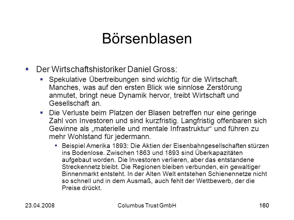 Börsenblasen Der Wirtschaftshistoriker Daniel Gross: