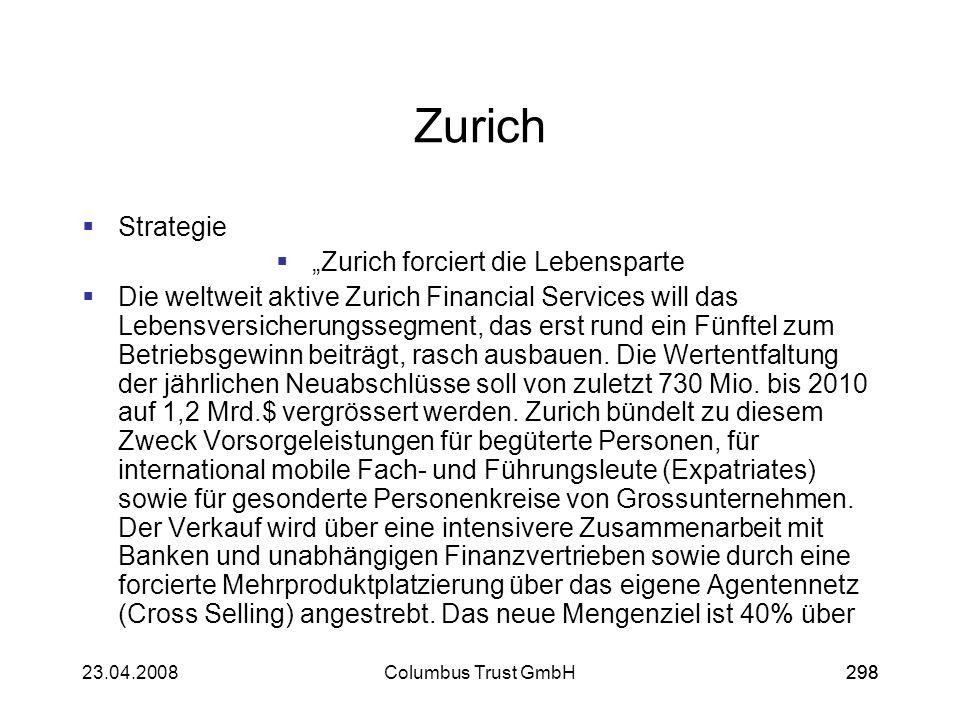 """""""Zurich forciert die Lebensparte"""