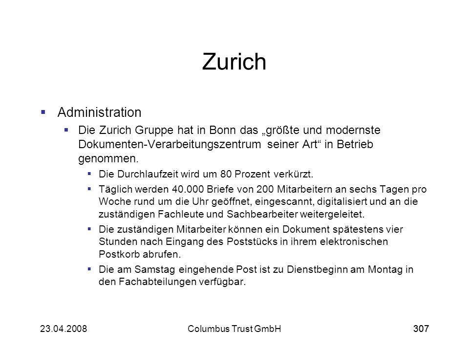Zurich Administration