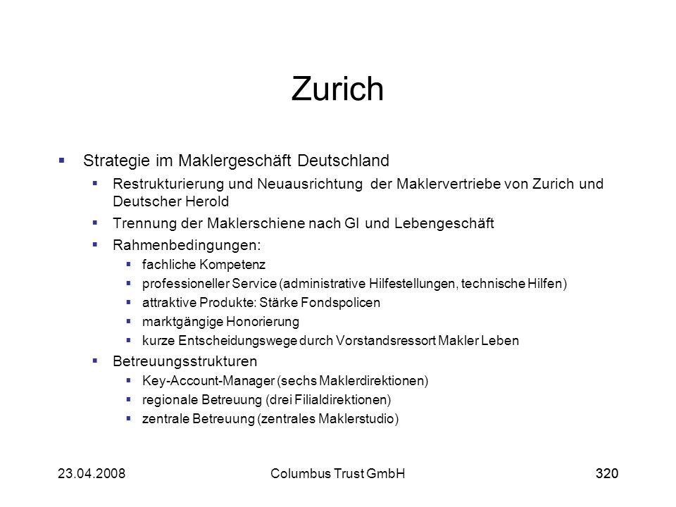 Zurich Strategie im Maklergeschäft Deutschland