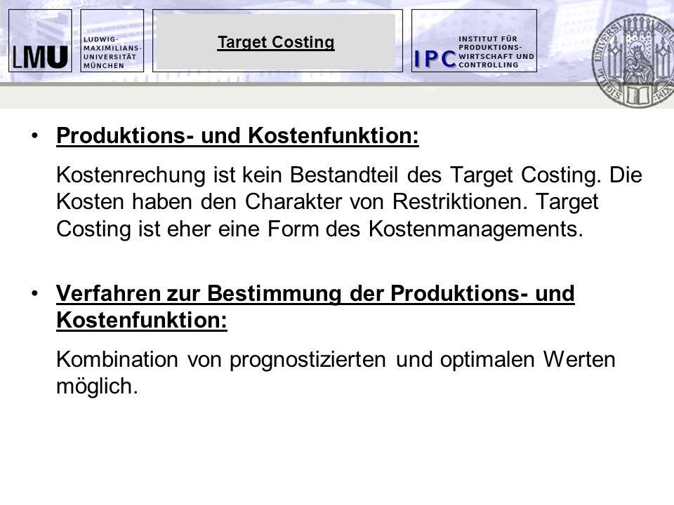 Produktions- und Kostenfunktion: