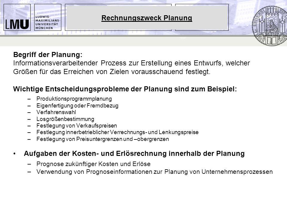 Rechnungszweck Planung