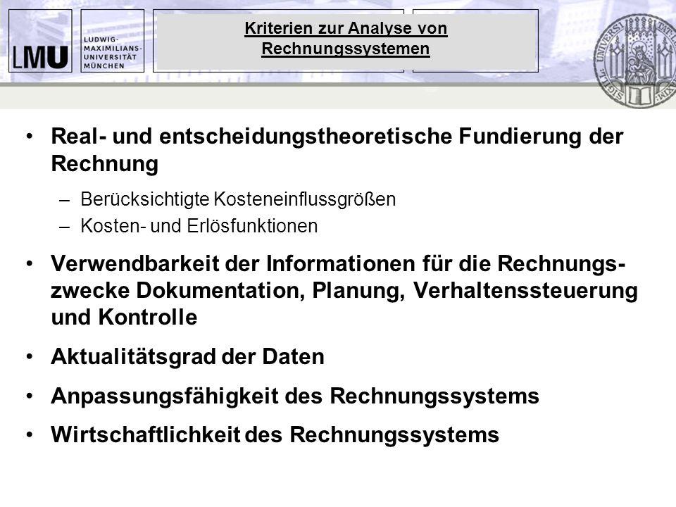 Kriterien zur Analyse von Rechnungssystemen