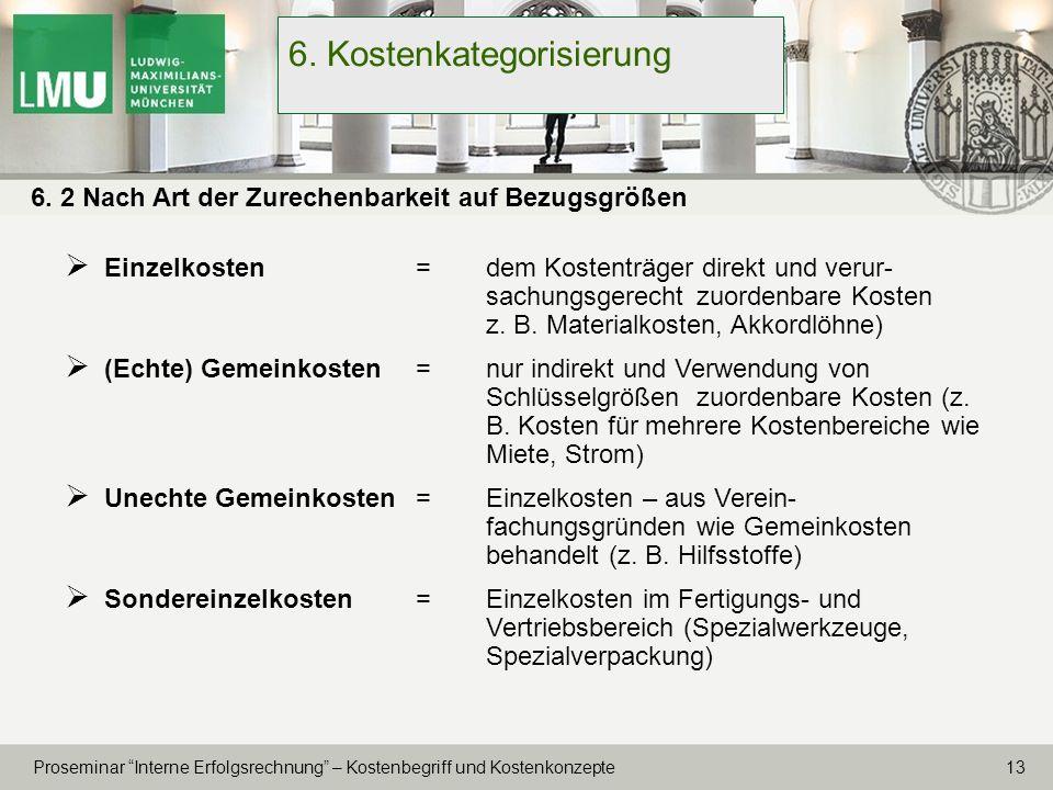 6. Kostenkategorisierung