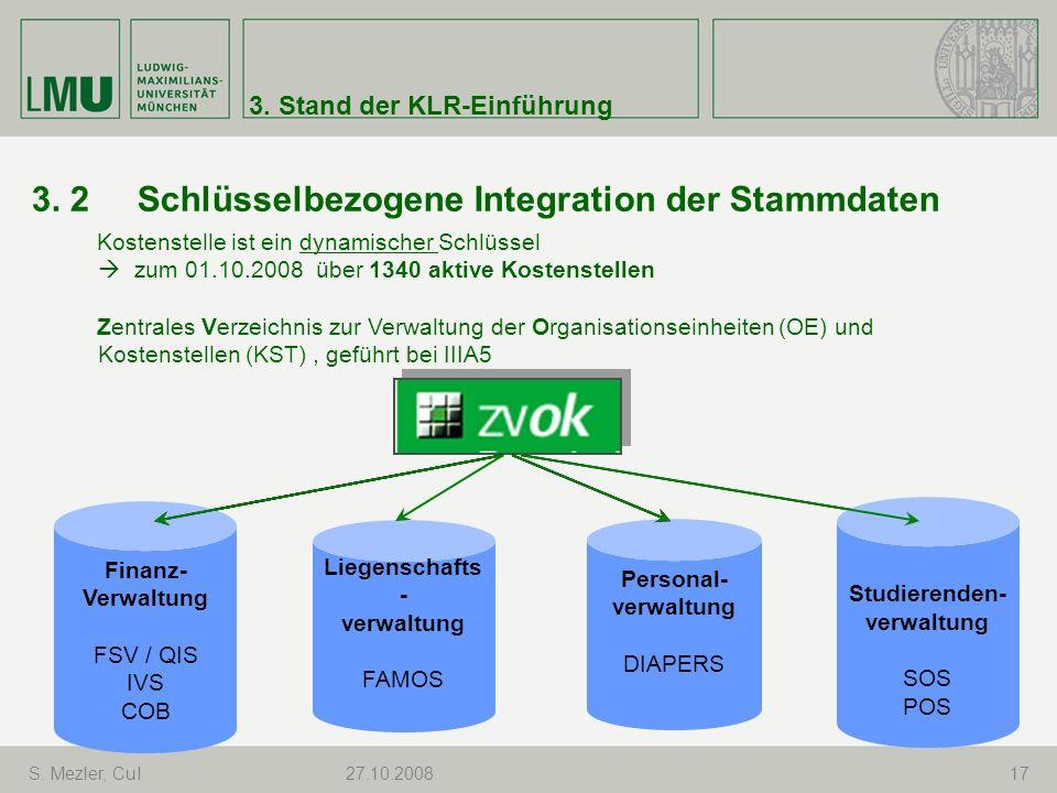 3. 2 Schlüsselbezogene Integration der Stammdaten