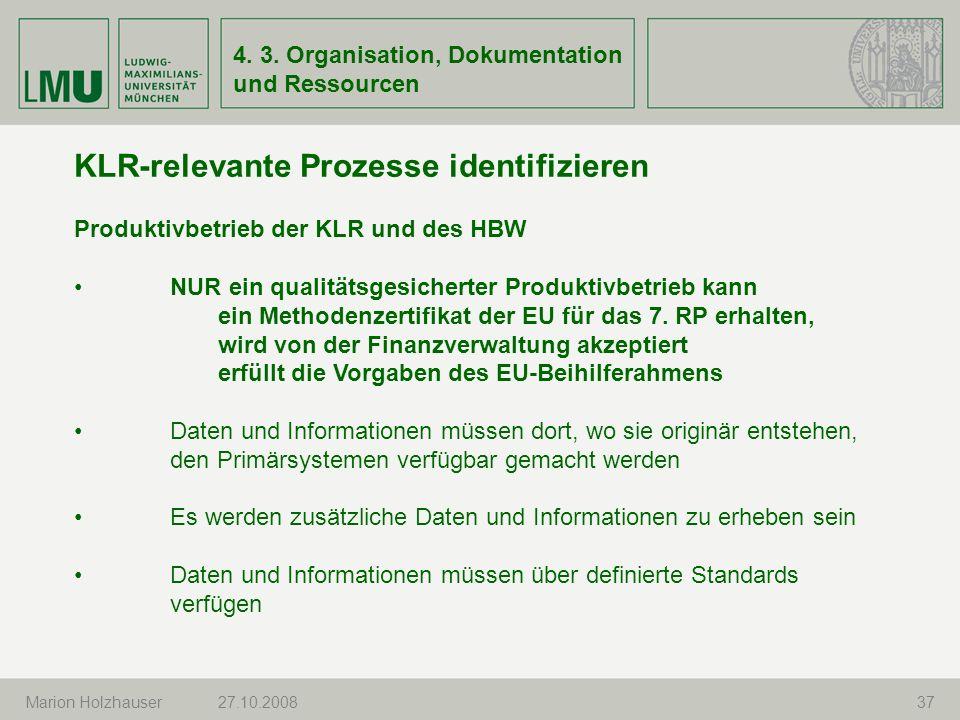 KLR-relevante Prozesse identifizieren