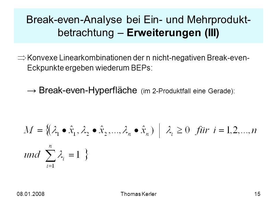 Break-even-Analyse bei Ein- und Mehrprodukt-betrachtung – Erweiterungen (III)