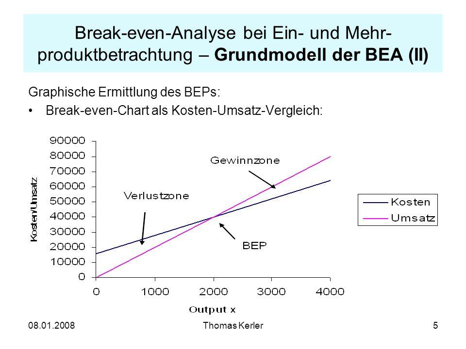 Break-even-Analyse bei Ein- und Mehr-produktbetrachtung – Grundmodell der BEA (II)
