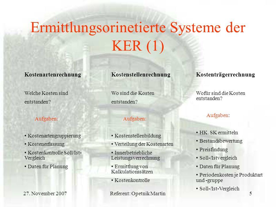 Ermittlungsorinetierte Systeme der KER (1)