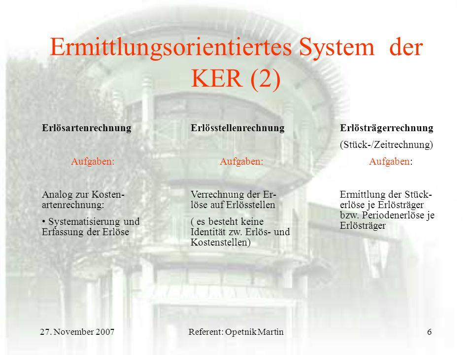Ermittlungsorientiertes System der KER (2)
