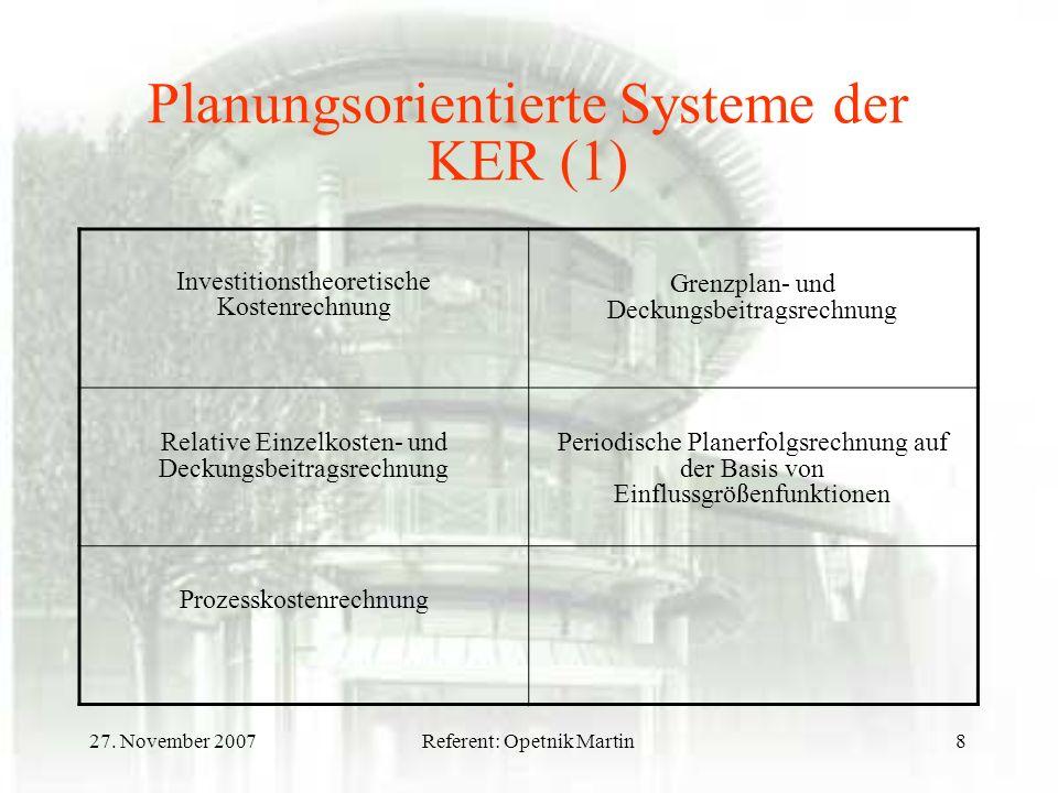 Planungsorientierte Systeme der KER (1)