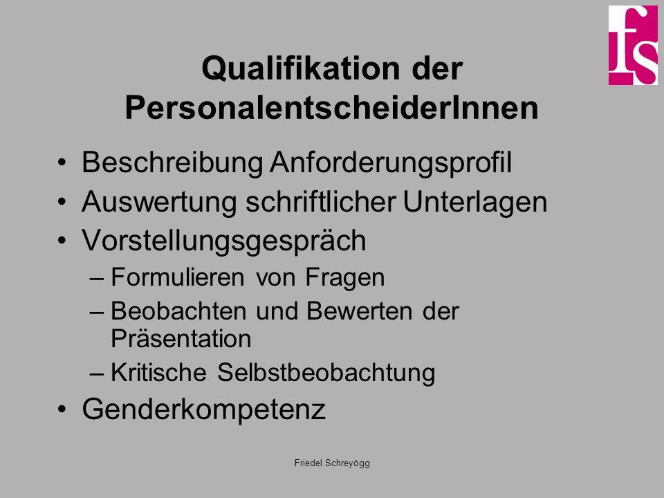Qualifikation der PersonalentscheiderInnen