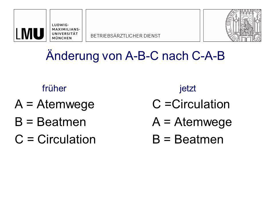 Änderung von A-B-C nach C-A-B