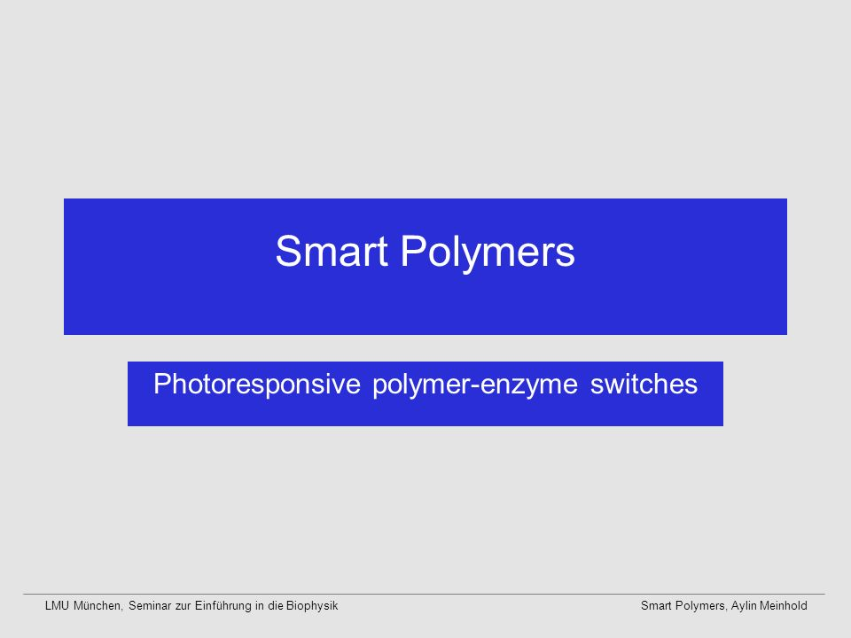 Photoresponsive polymer-enzyme switches