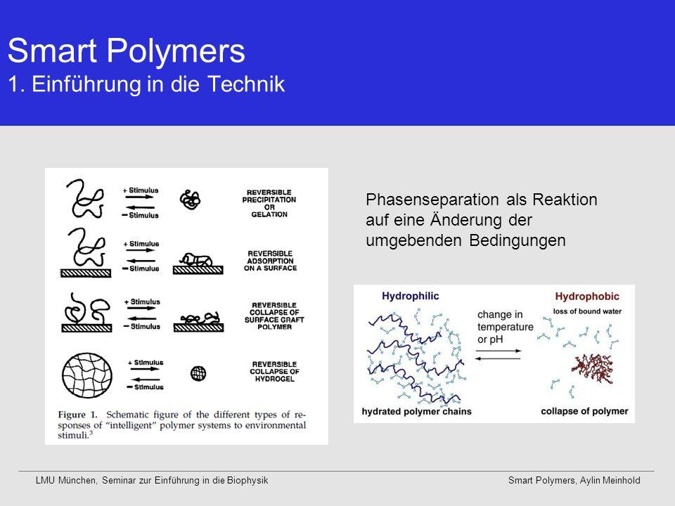 Smart Polymers 1. Einführung in die Technik
