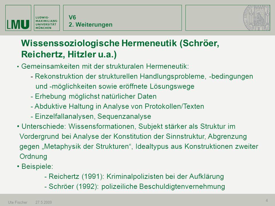 Wissenssoziologische Hermeneutik (Schröer, Reichertz, Hitzler u.a.)