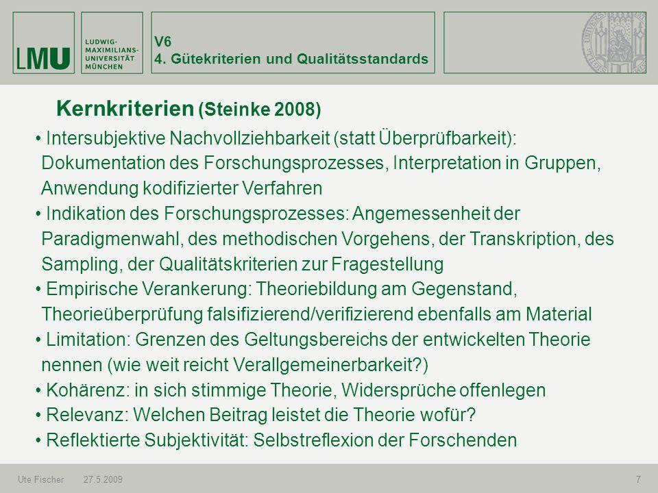Kernkriterien (Steinke 2008)