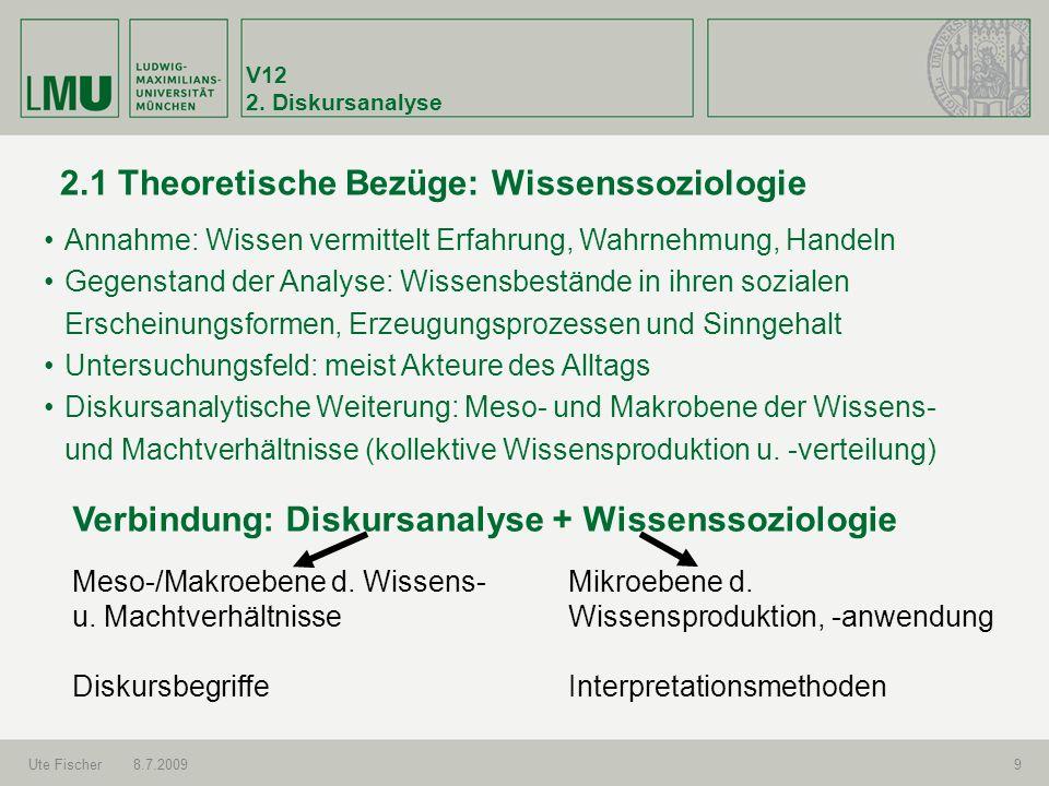 2.1 Theoretische Bezüge: Wissenssoziologie