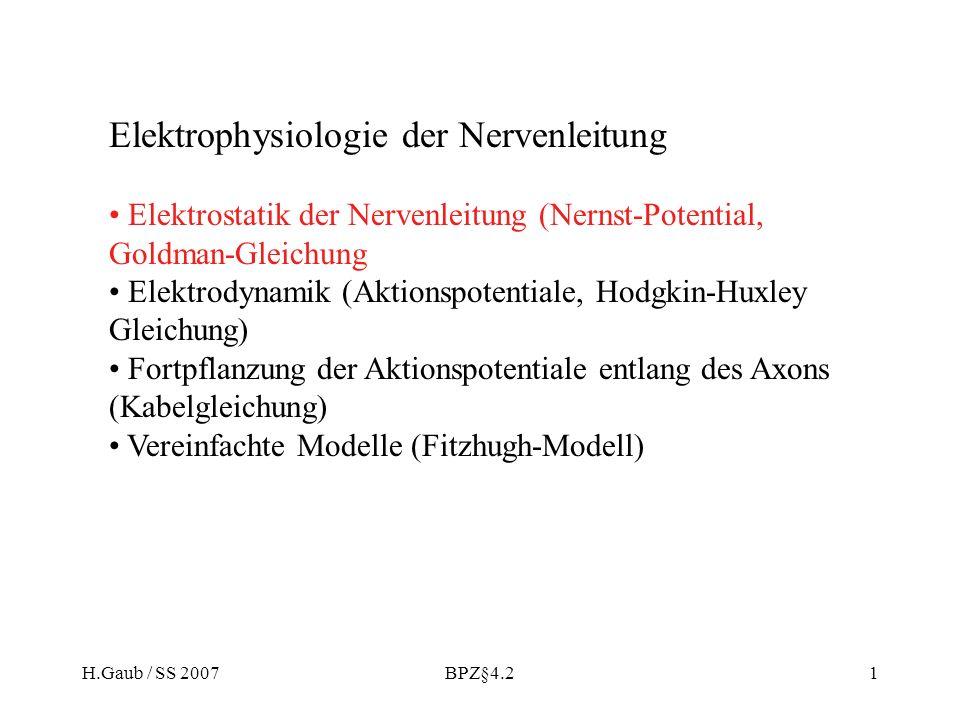 Elektrophysiologie der Nervenleitung