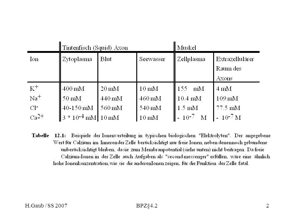 H.Gaub / SS 2007 BPZ§4.2