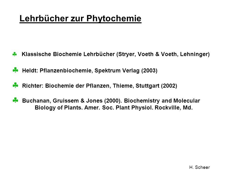 Lehrbücher zur Phytochemie