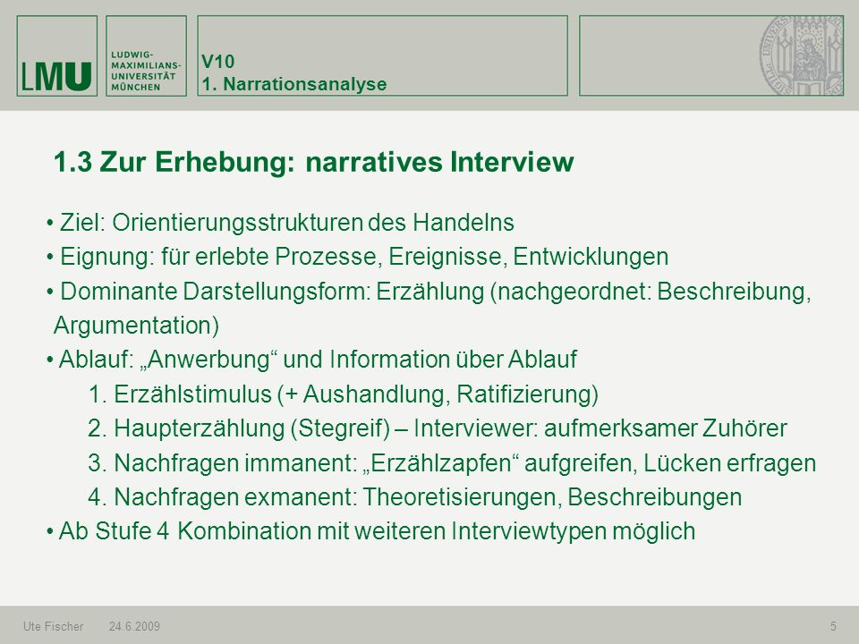 1.3 Zur Erhebung: narratives Interview