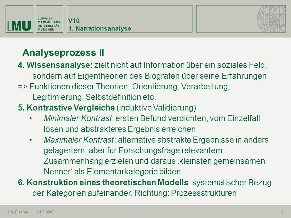 V101. Narrationsanalyse. Analyseprozess II.