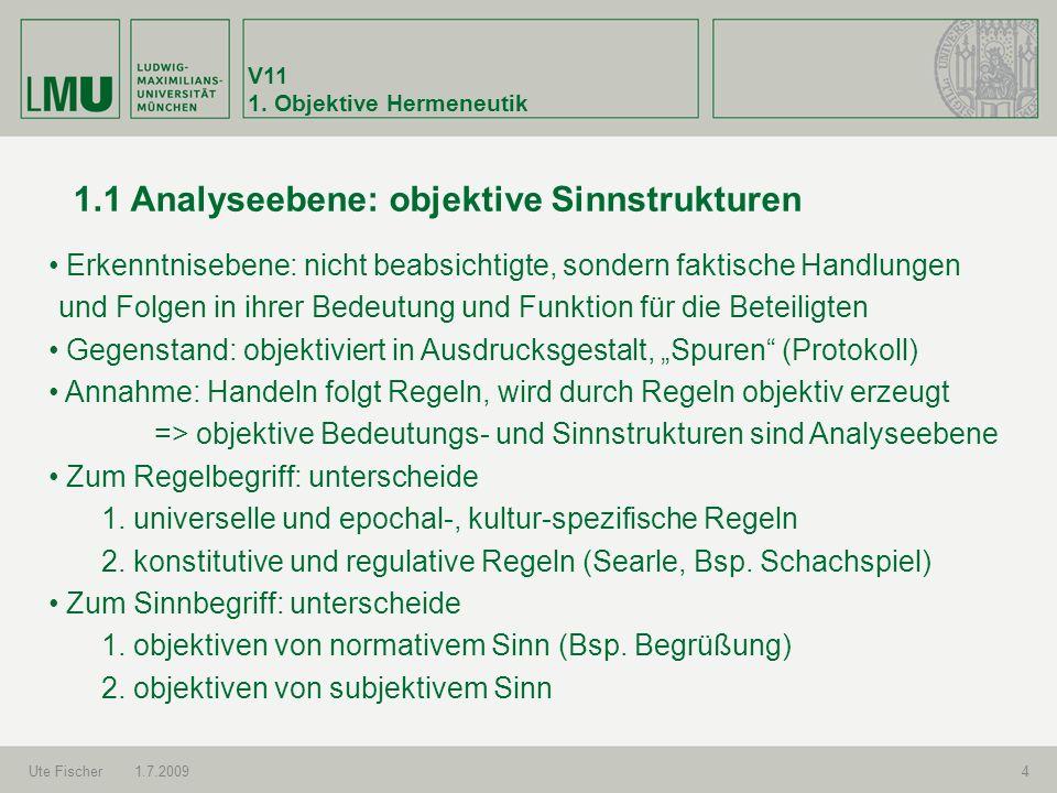 1.1 Analyseebene: objektive Sinnstrukturen