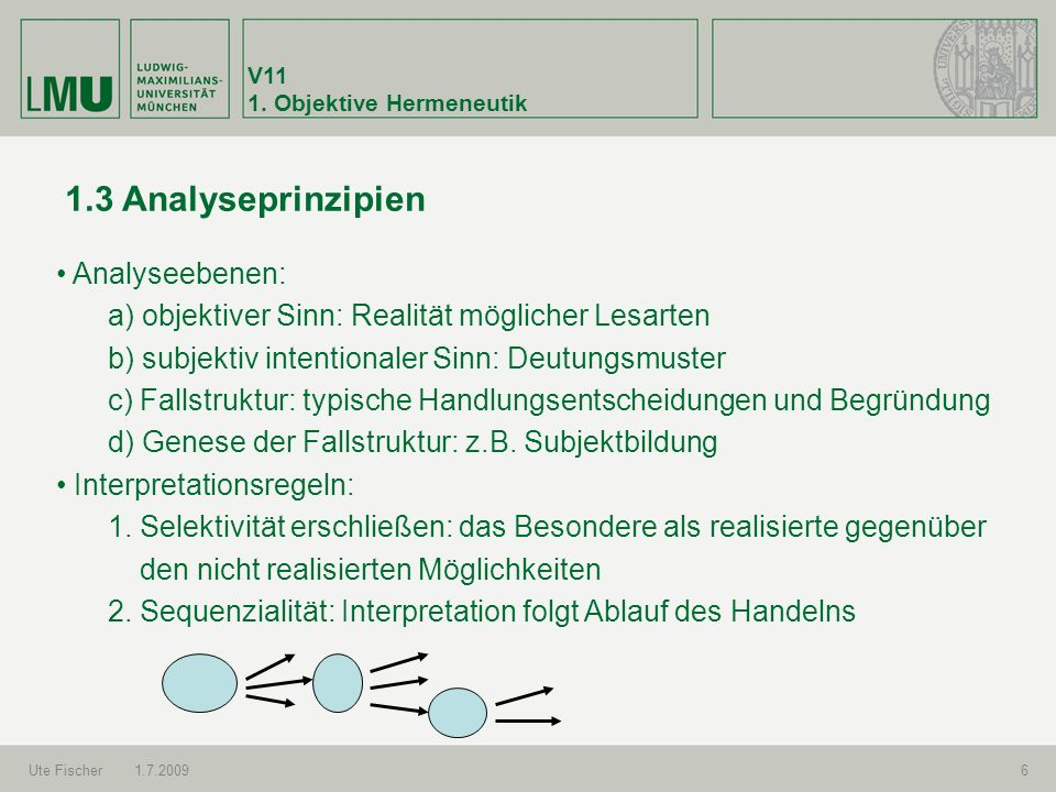 1.3 Analyseprinzipien Analyseebenen: