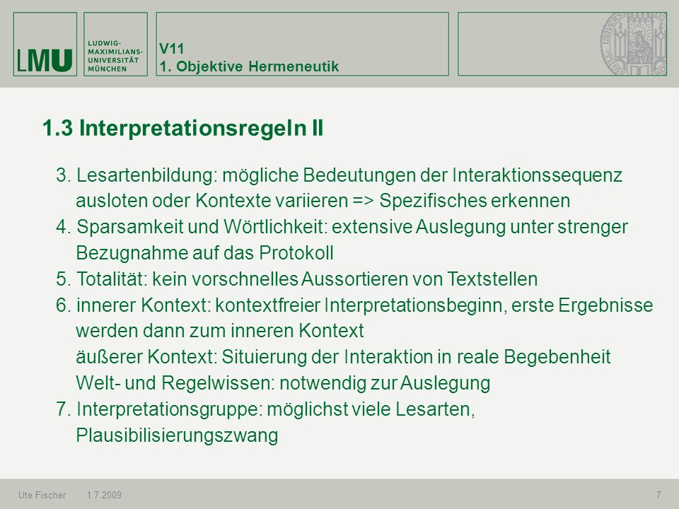 1.3 Interpretationsregeln II