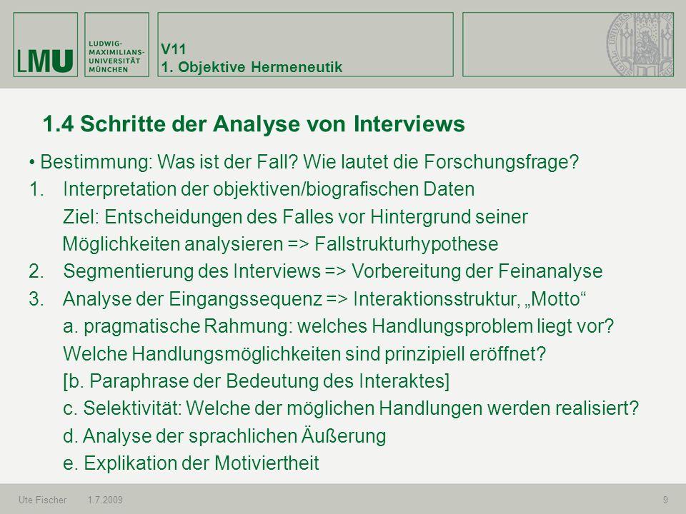 1.4 Schritte der Analyse von Interviews