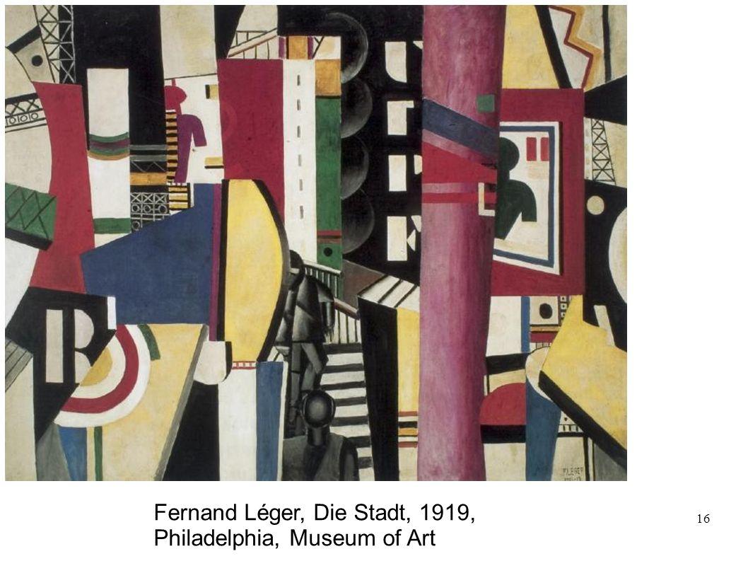 Fernand Léger, Die Stadt, 1919, Philadelphia, Museum of Art