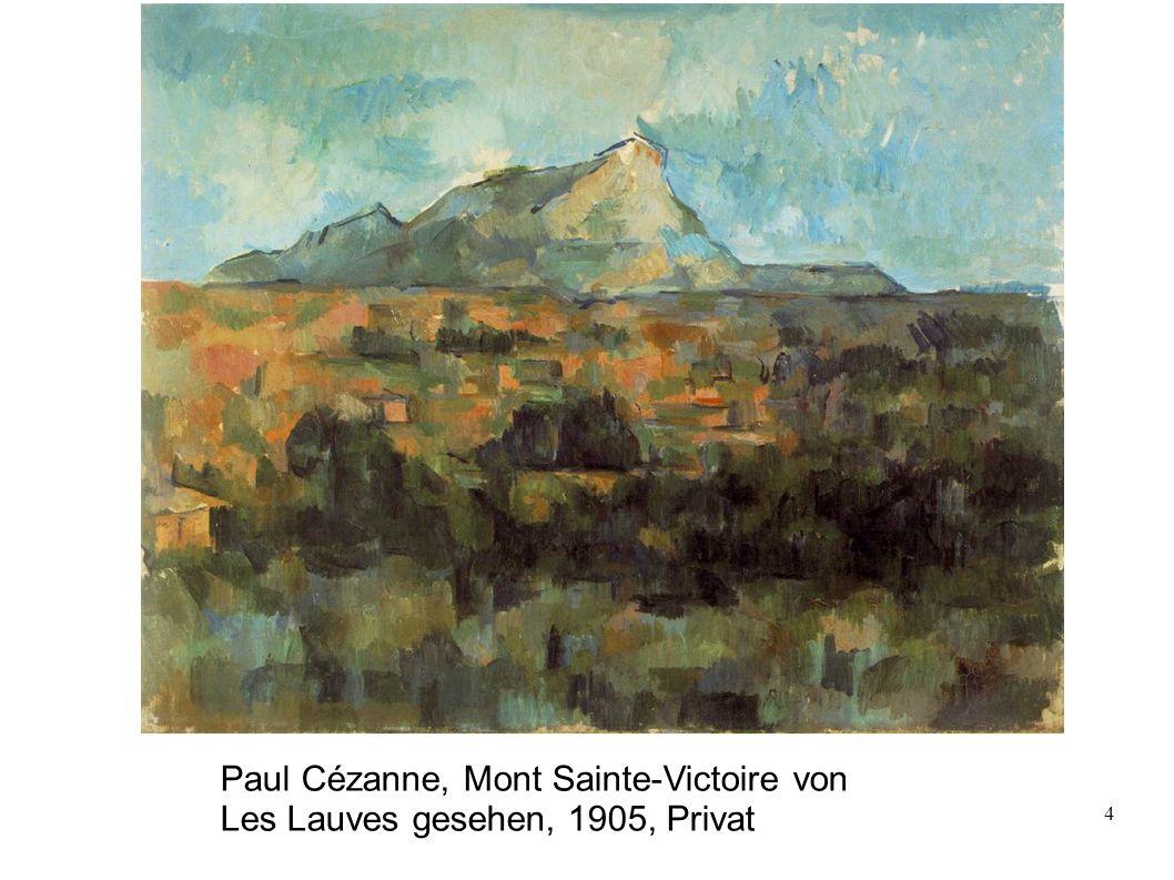 Paul Cézanne, Mont Sainte-Victoire von Les Lauves gesehen, 1905, Privat