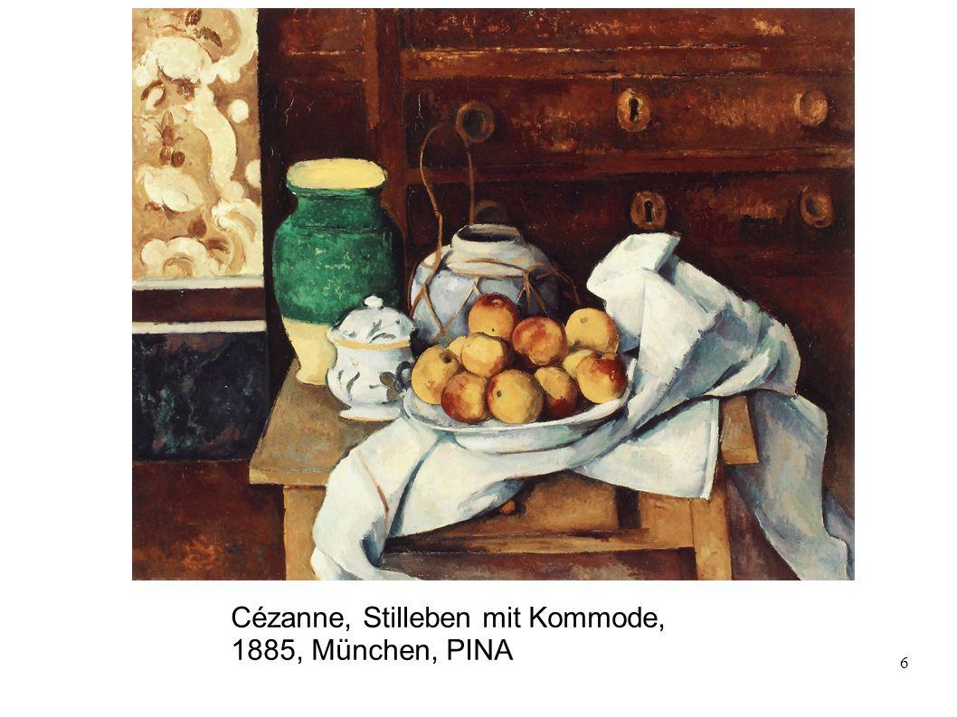 Cézanne, Stilleben mit Kommode, 1885, München, PINA