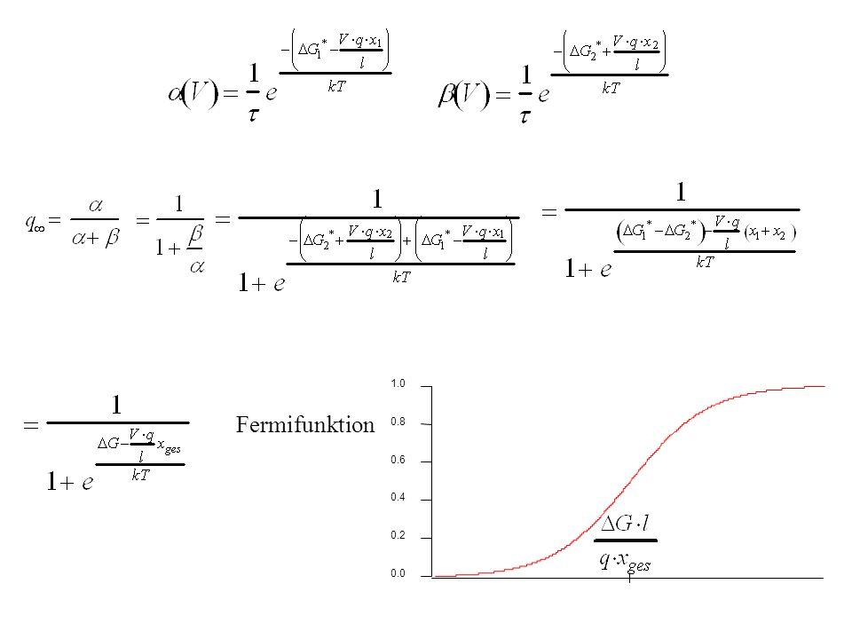 1.0 0.8 0.6 0.4 0.2 0.0 Fermifunktion H.Gaub / SS 2007 BPZ§4.2