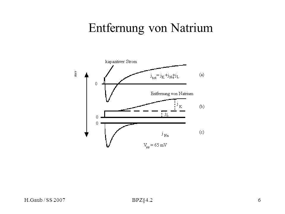 Entfernung von Natrium